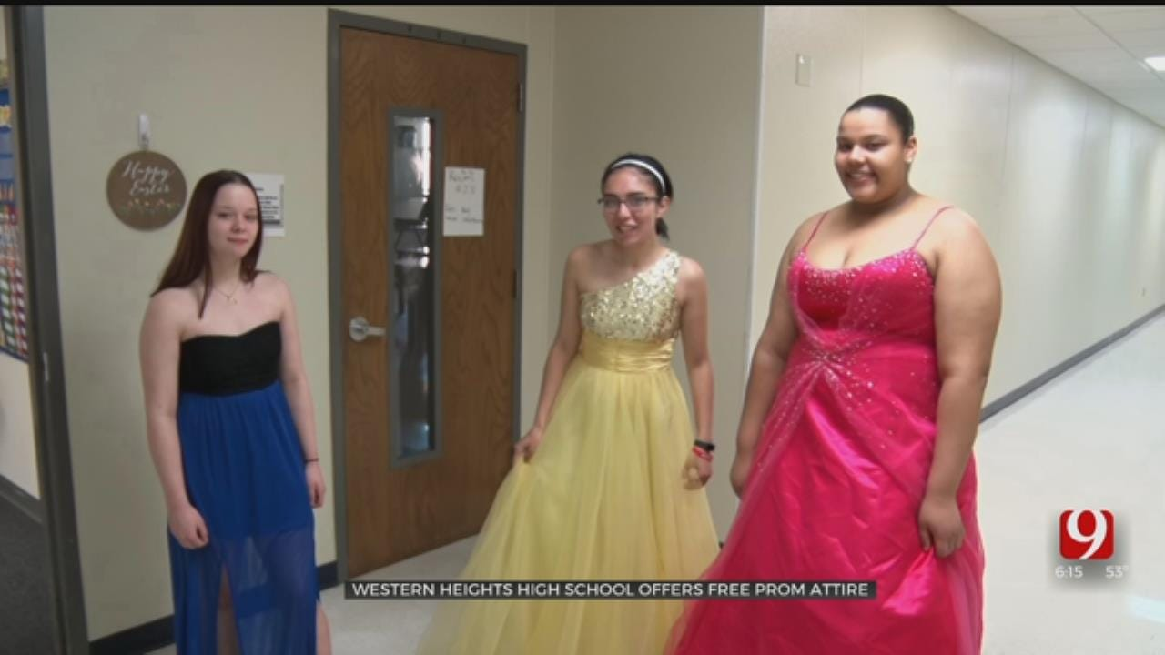 Western Heights HS Offers New Prom Dresses To Students In Need