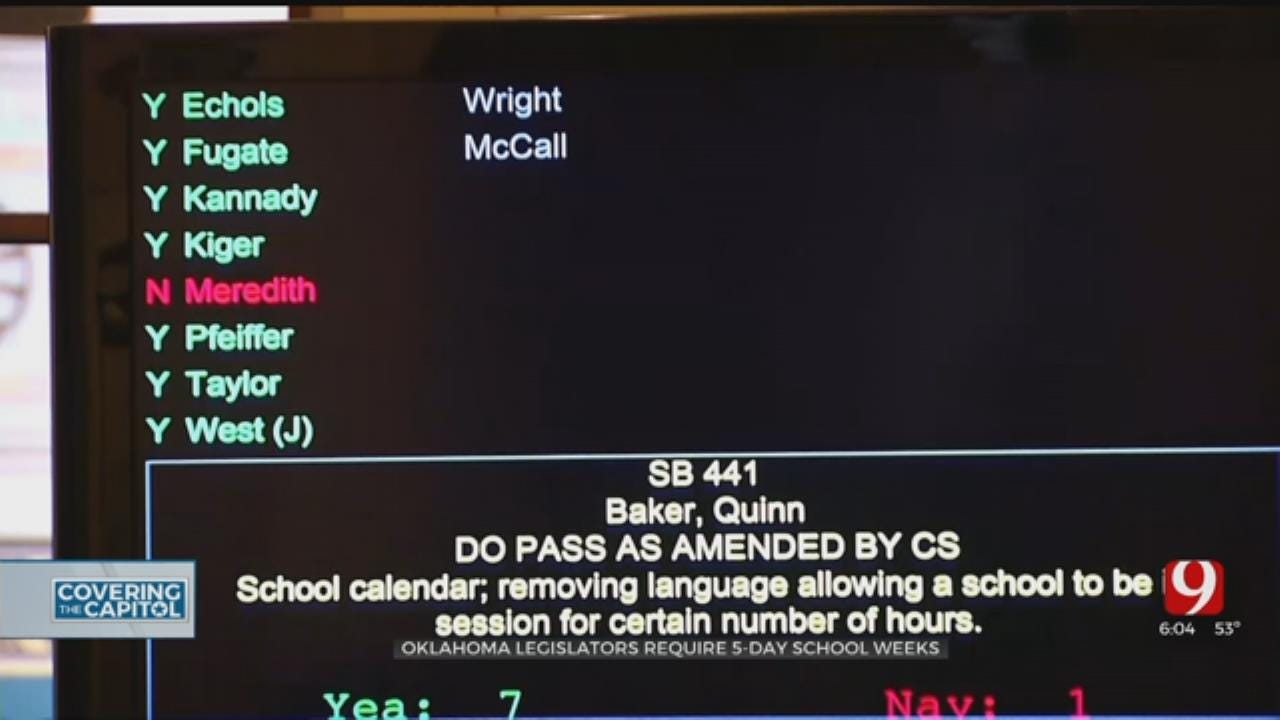 State House Committee Passes Bill For 5-Day School Week That Includes Pay Increase
