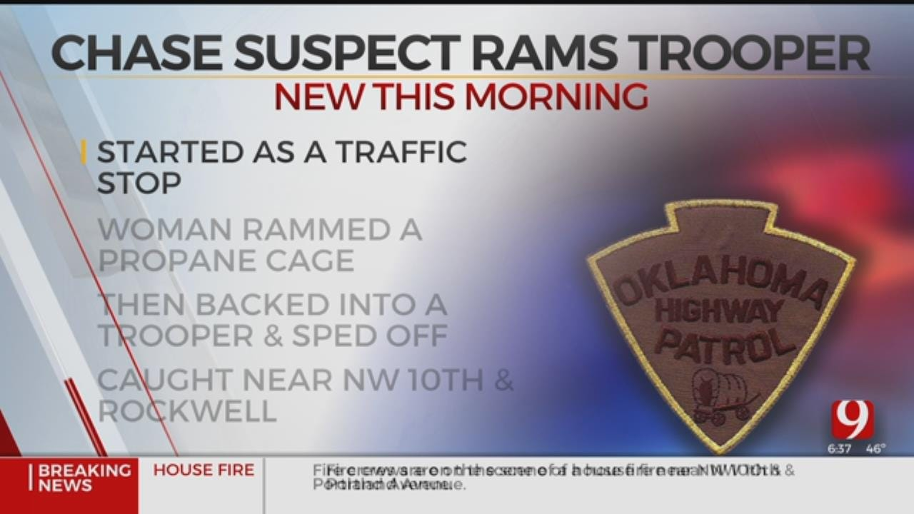 1 Arrested After Ramming Trooper Vehicle, High-Speed Pursuit In NW Oklahoma City