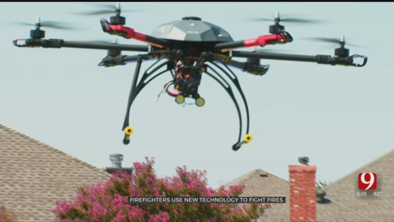 Oklahoma Firefighters Using Drones To Help Battle Fires