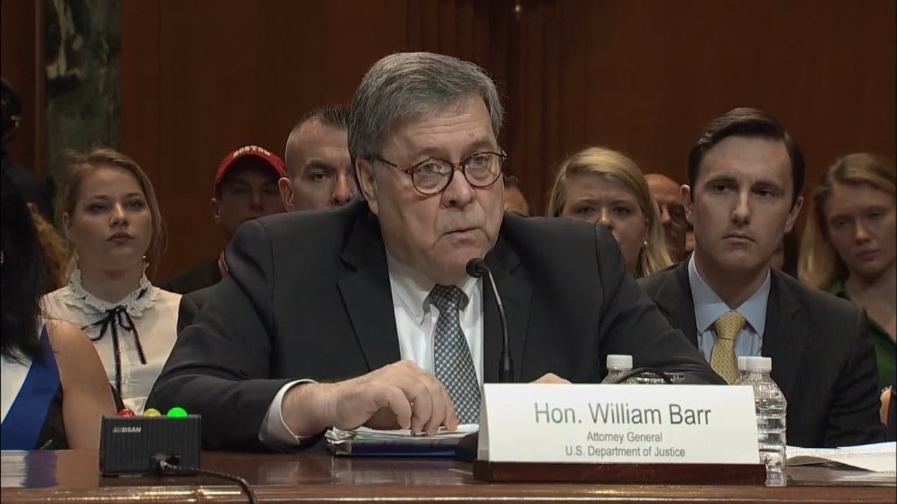 AG Barr Won't Withhold Derogatory Information About President Trump