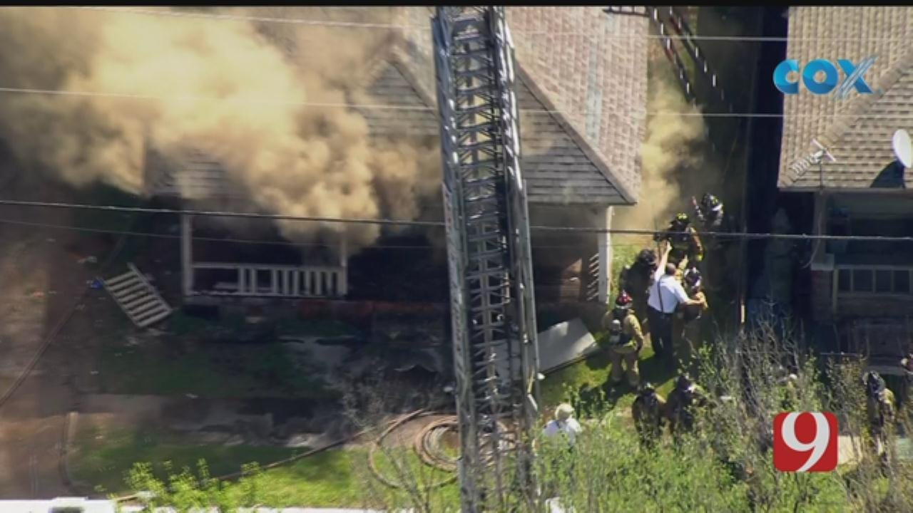 Crews Respond To Reported House Fire In NW Oklahoma City