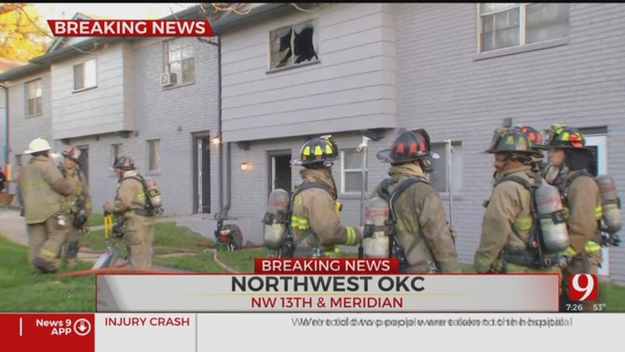Firefighters Extinguish NW Oklahoma City Apartment Fire