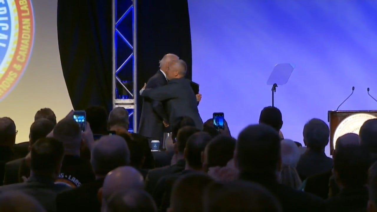 Former VP Biden Makes 1st Appearance Since Complaints About Behavior