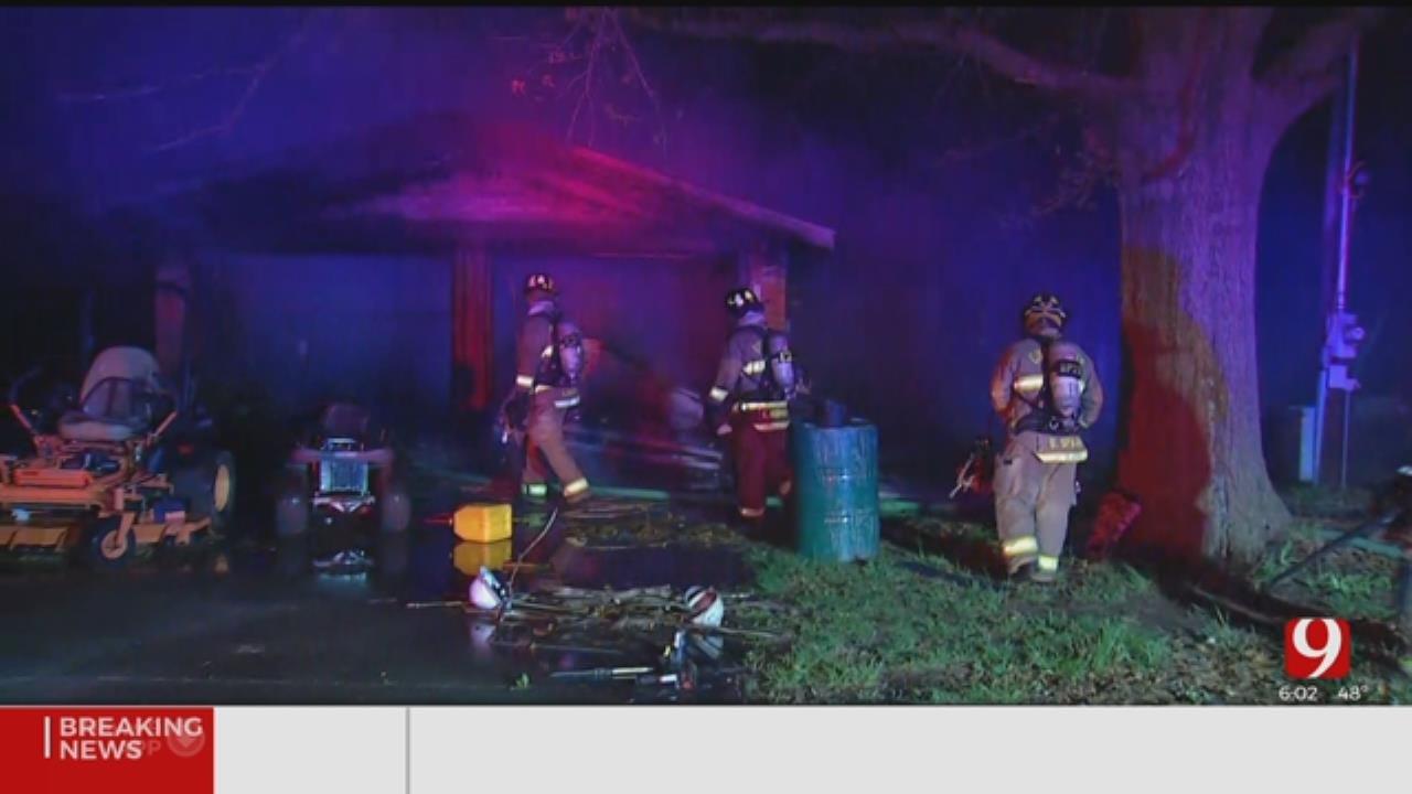 2 Taken To Hospital Following SW Oklahoma City Fire