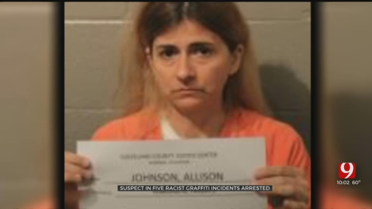 Woman Turns Herself In For Racist Graffiti Crimes In OKC, Norman