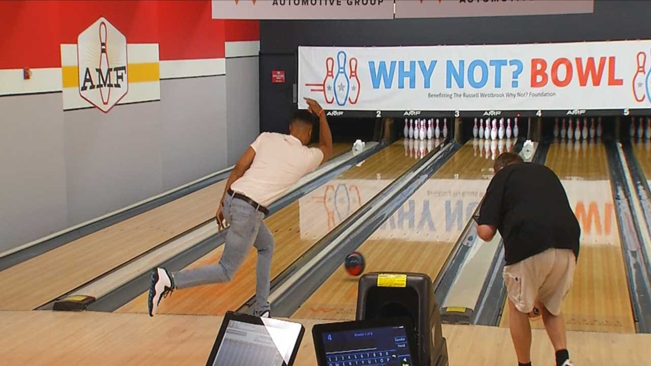 WATCH: Russell Westbrook Bowls In Honor Of 'Why Not?' Event
