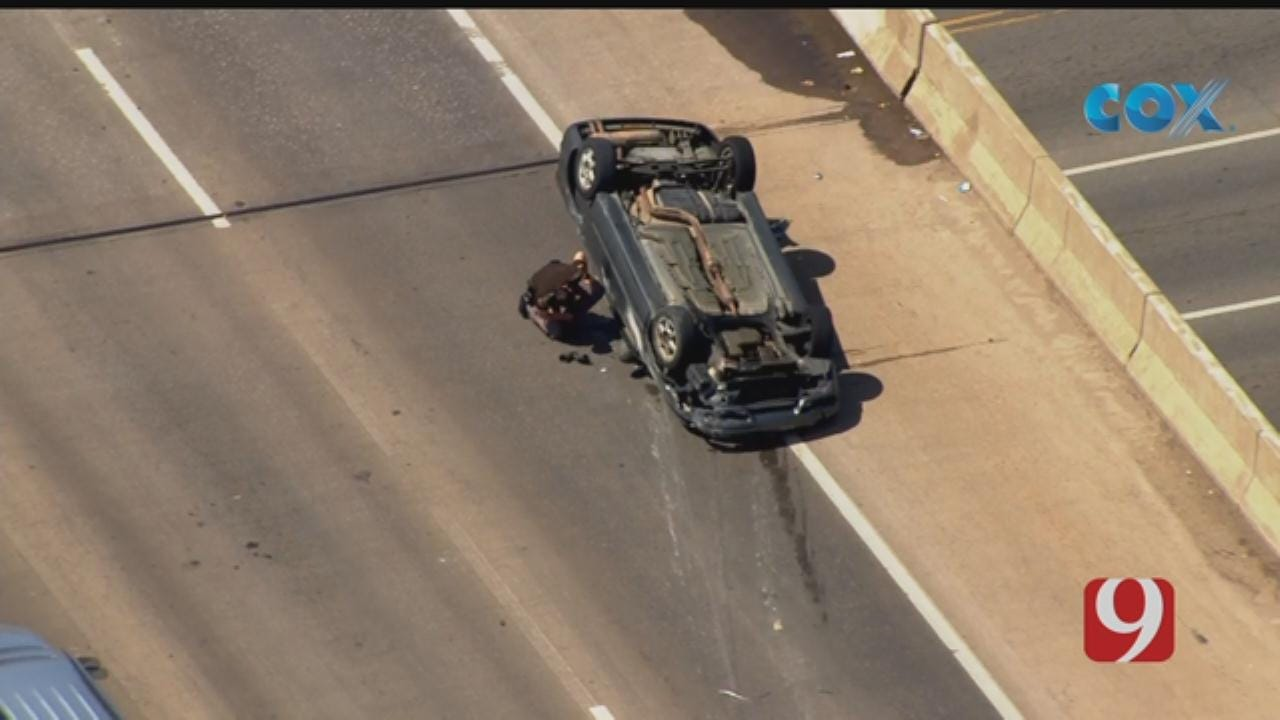 Single Vehicle Rolled Over On Eastbound I-240