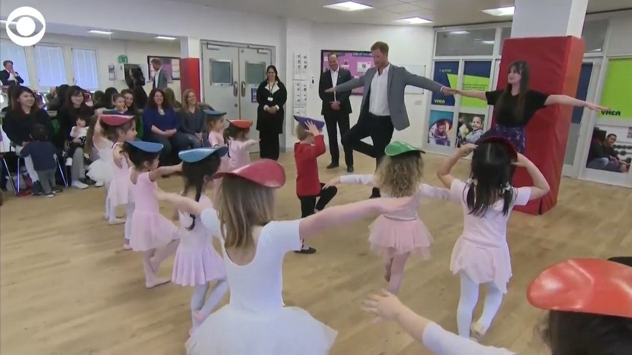 Prince Harry Joins Ballet Class