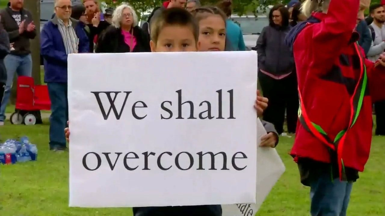 Hundreds Rally Against Racism In Norman Following Hate Crimes