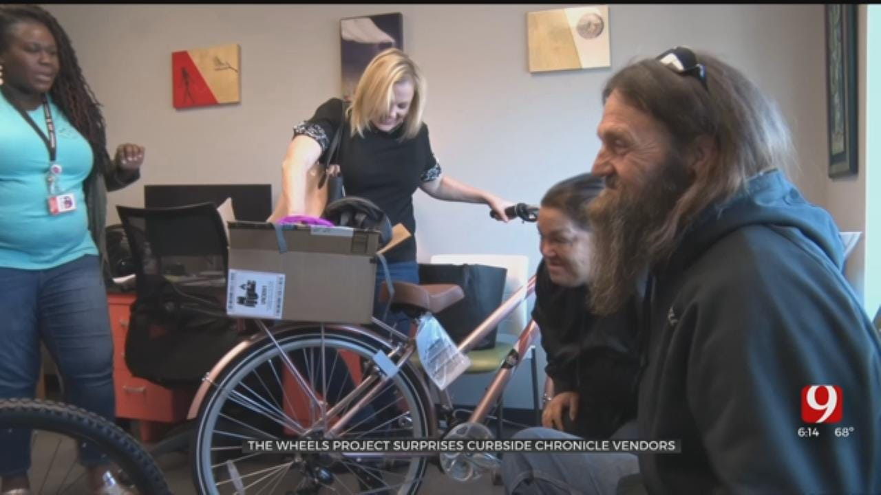 The Wheels Project Holds Double Donation For 'Curbside Chronicle' Couple
