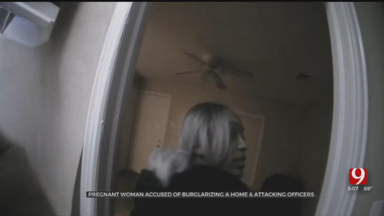 Pregnant Woman Accused Of Burglarizing OKC Home, Attacking Officers