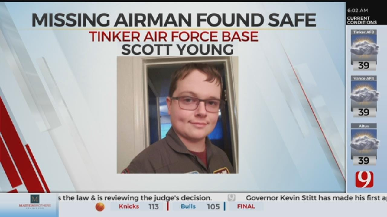 Missing Tinker Airman Found Safe, According To Family