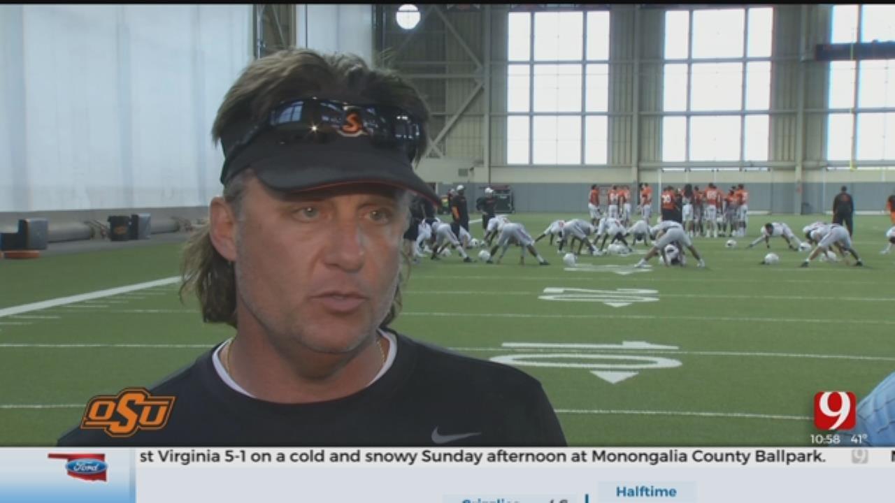 Cowboys Continue Spring Practice In Stillwater