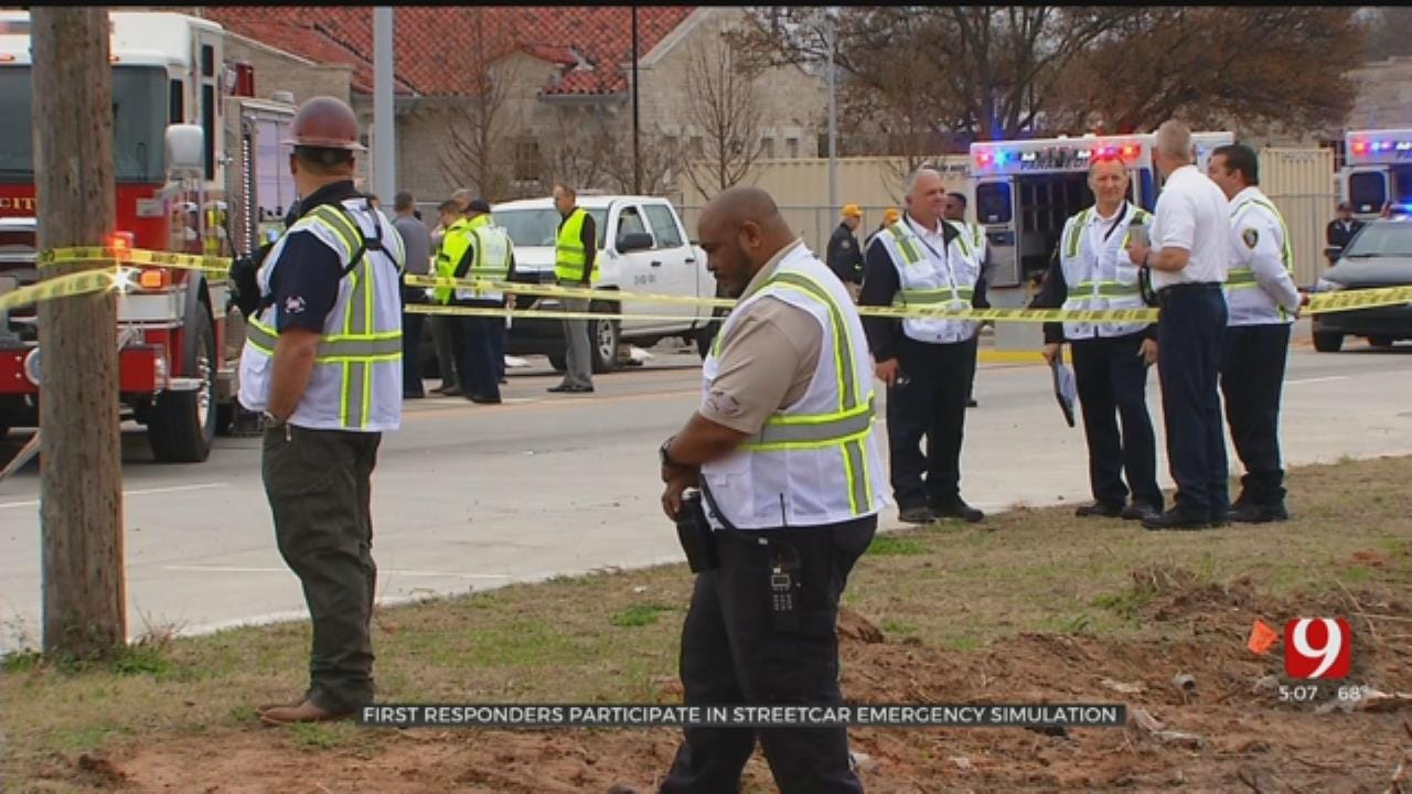 Emergency Exercise Brings OKC Streetcar Crash To Life