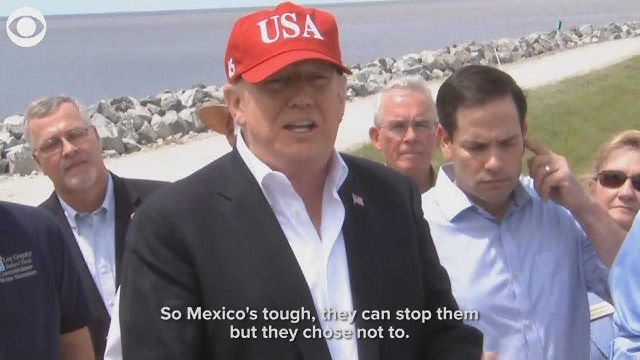 President Trump On Closing The Southern Border