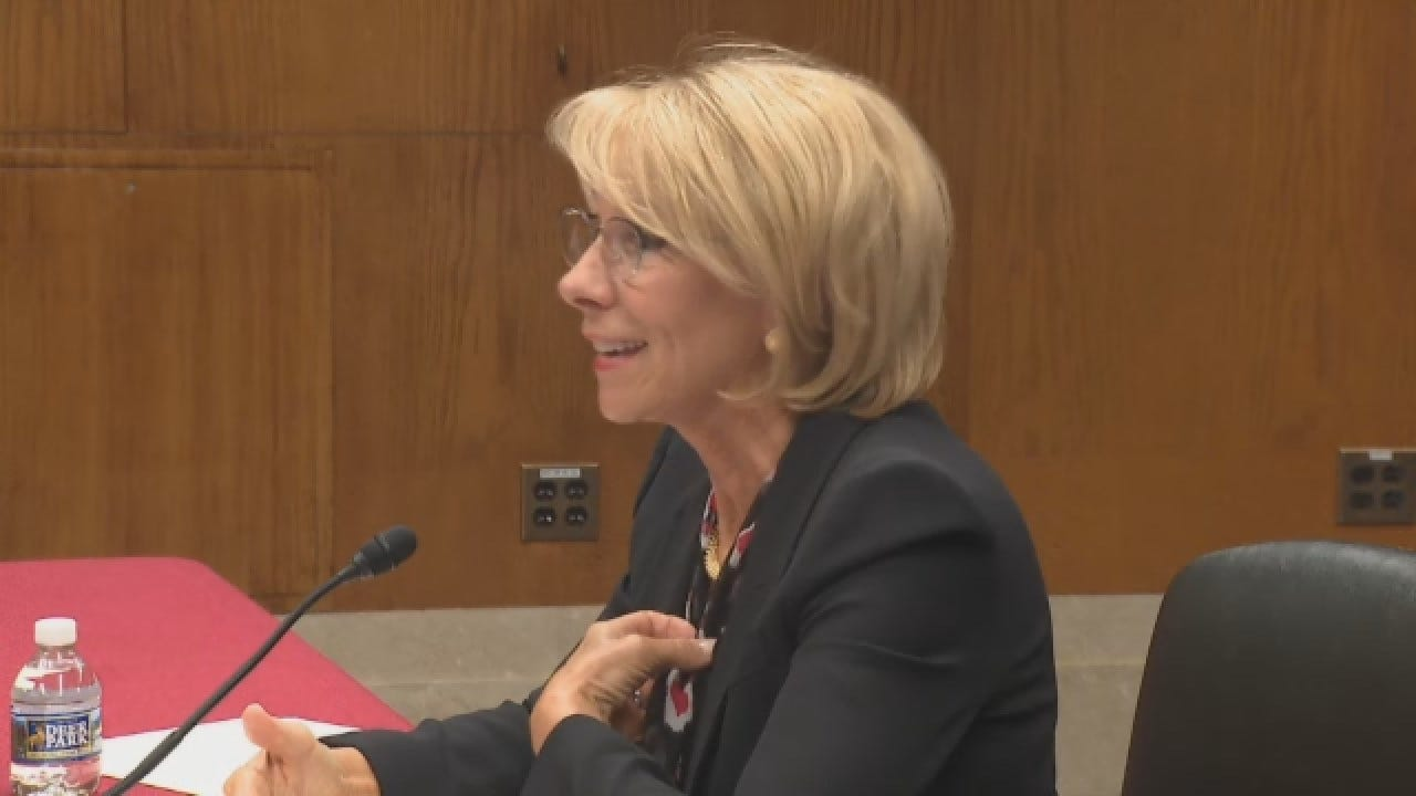 Education Sec. Betsy DeVos Discusses Potential Cuts To Special Olympics