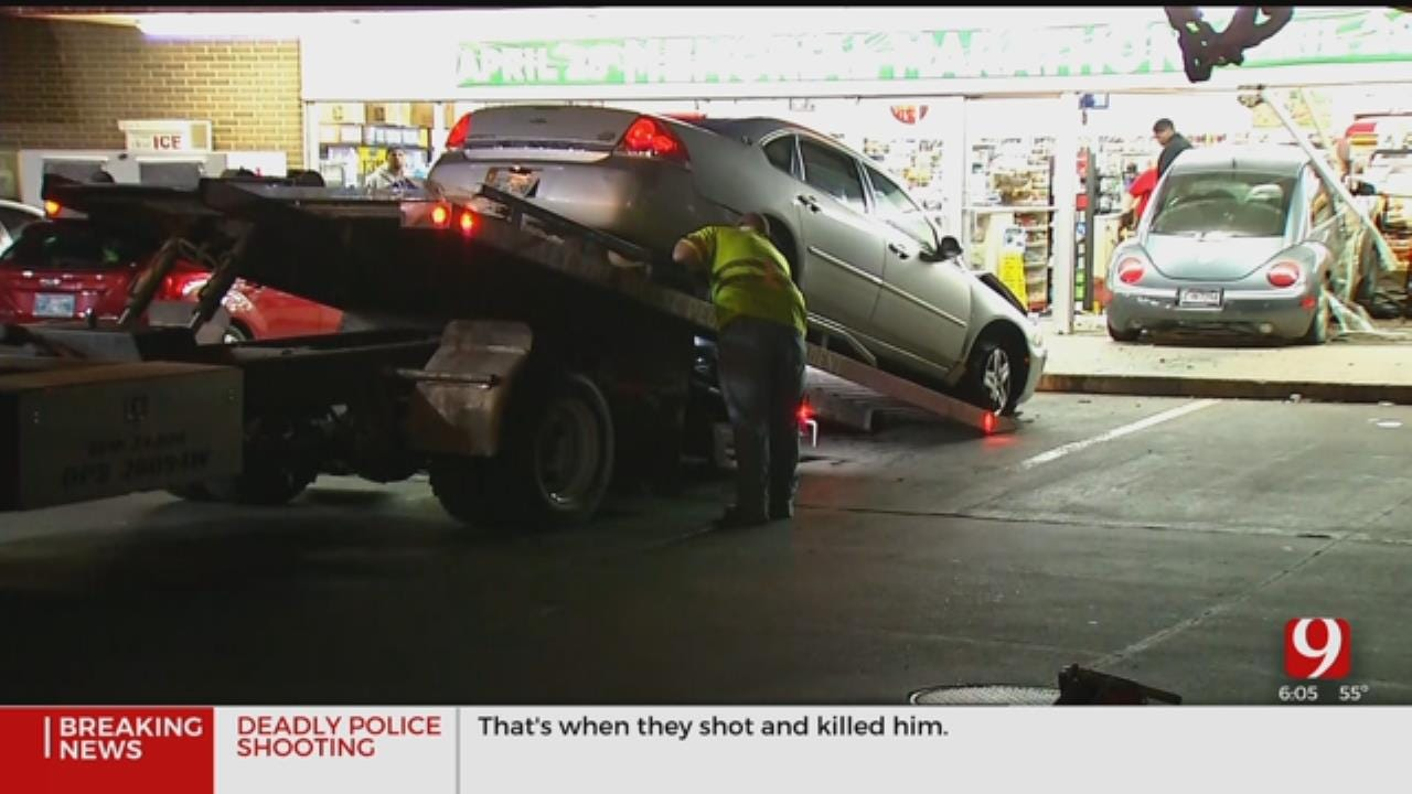 2 Vehicle Crash Leads To Car Into 7-Eleven