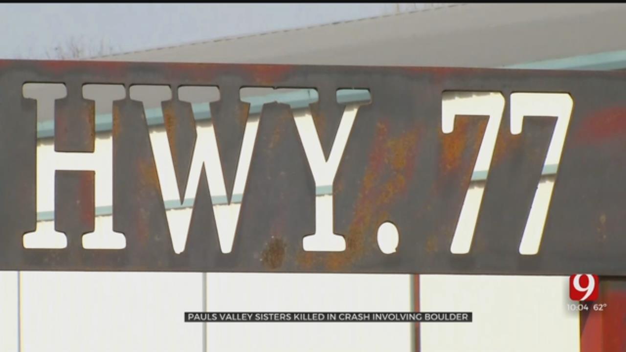 2 Sisters Killed In Crash Involving Boulder Near Pauls Valley
