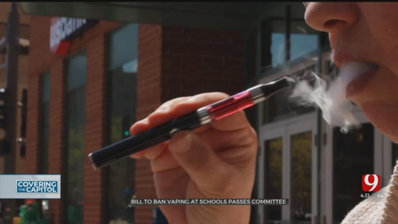 Bill To Ban Vaping In Oklahoma Schools Passes Committee