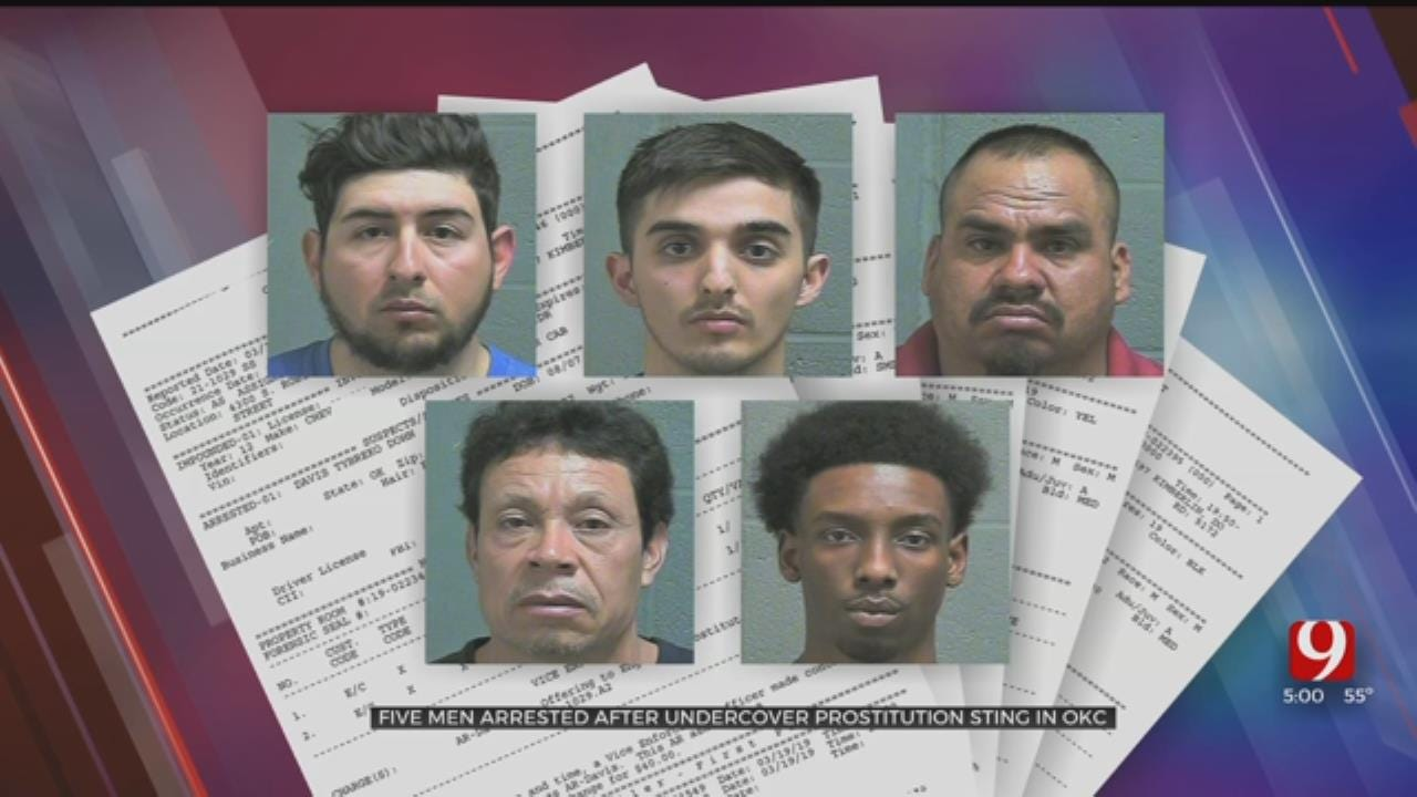 5 Arrested In Oklahoma City Undercover Prostitution Sting