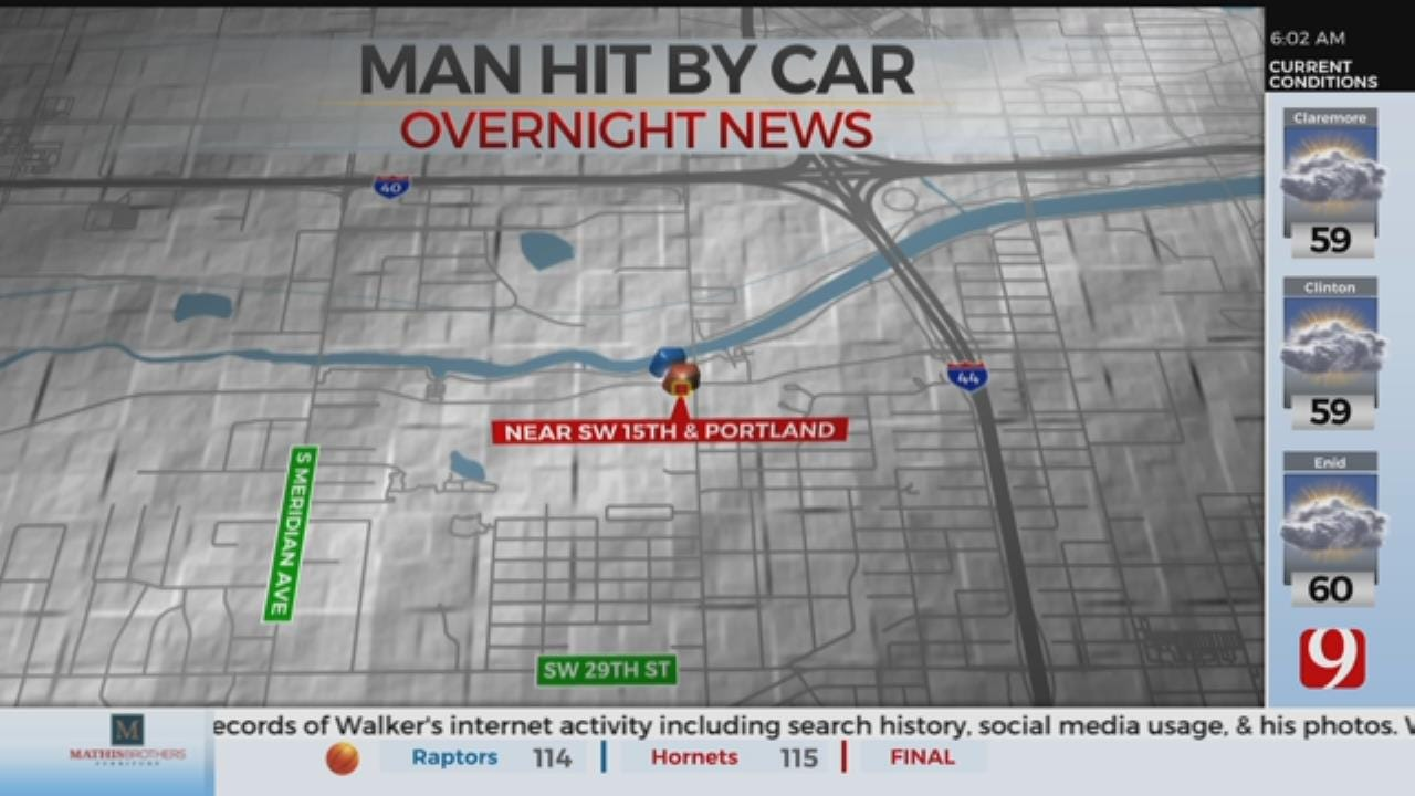 Man Hit By Car, Hospitalized In SW Oklahoma City