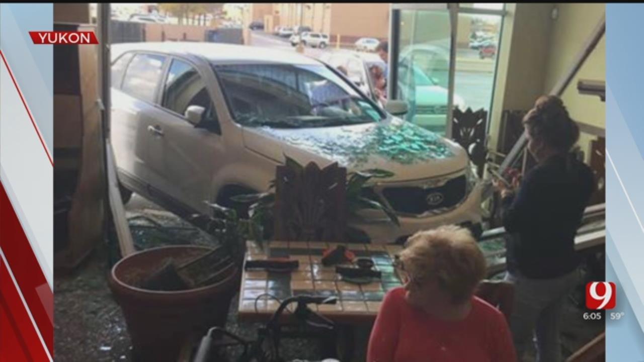 Car Crashes Into Yukon Restaurant
