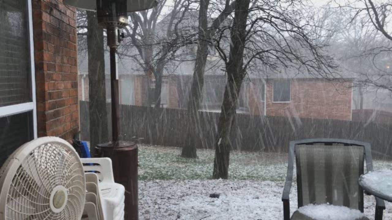Viewer Video: Hail Pounds Edmond Near 15th, Interstate 35