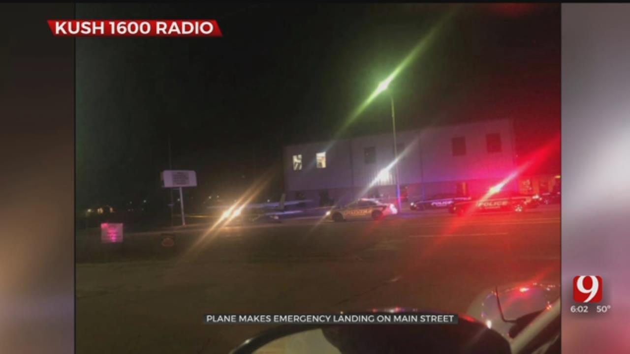 Plane Makes Emergency Landing In Cushing