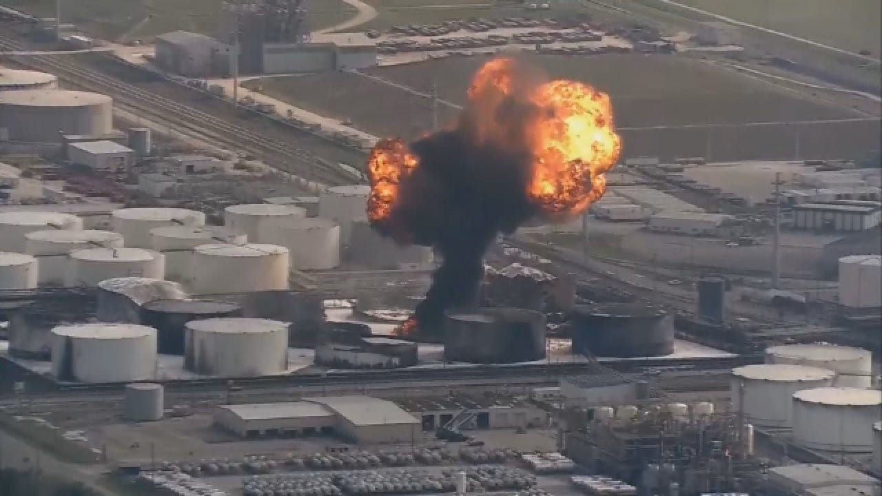 Officials Detect 'Action Level' Of Benzene Following Chemical Plant Fire Near Houston