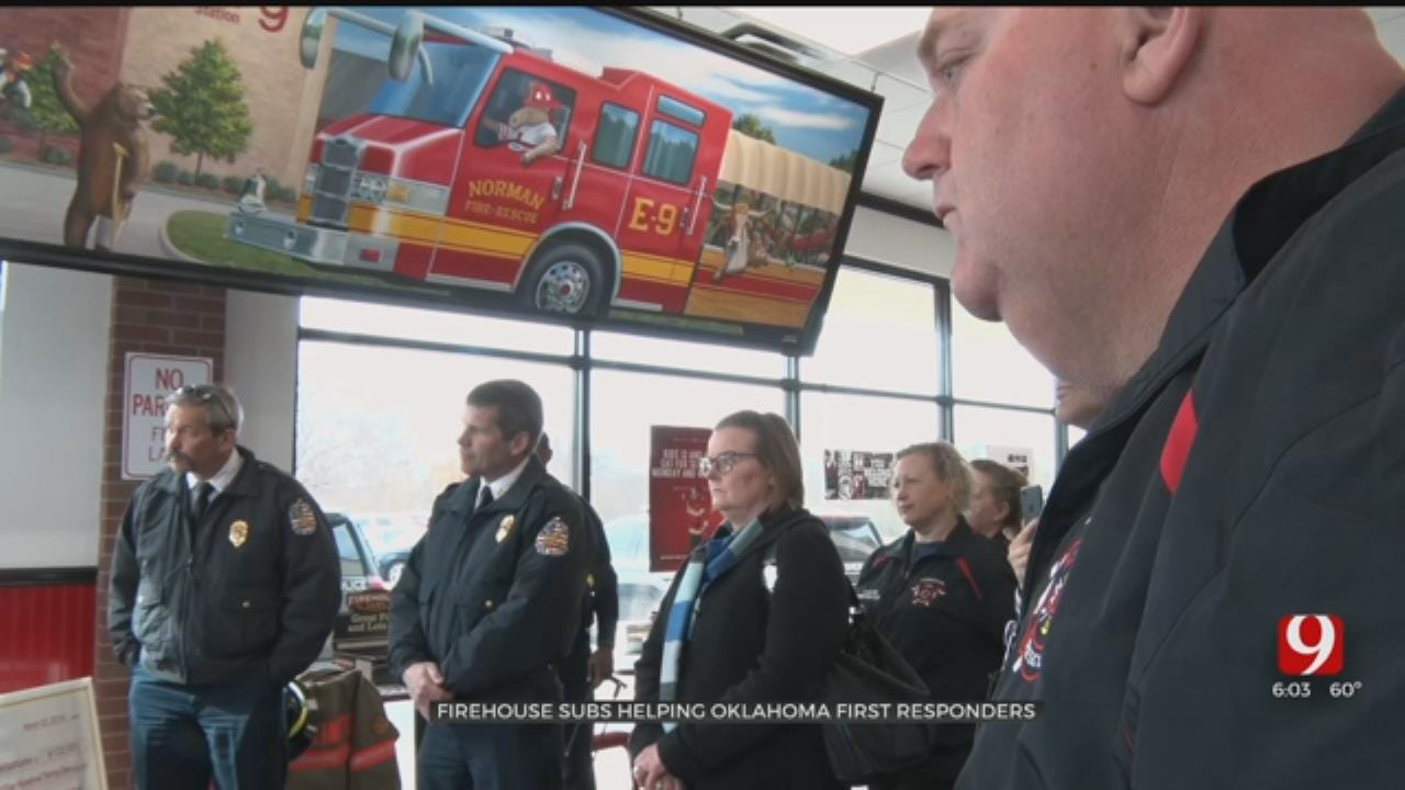 Six Oklahoma Agencies Save Lives With New Donations From Firehouse Subs