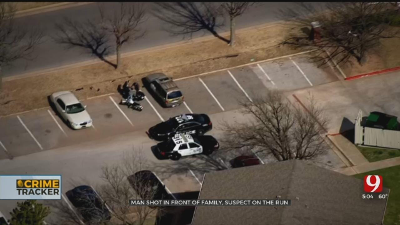 OKC Man Shot In Front Of Family, Suspect On-The-Run