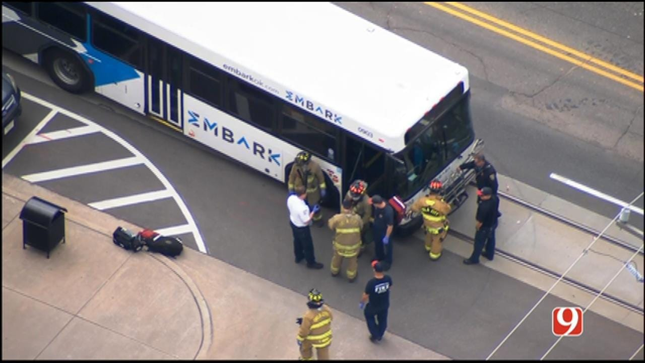 Emergency Crews Responding To Crash Involving EMBARK Bus In NW OKC