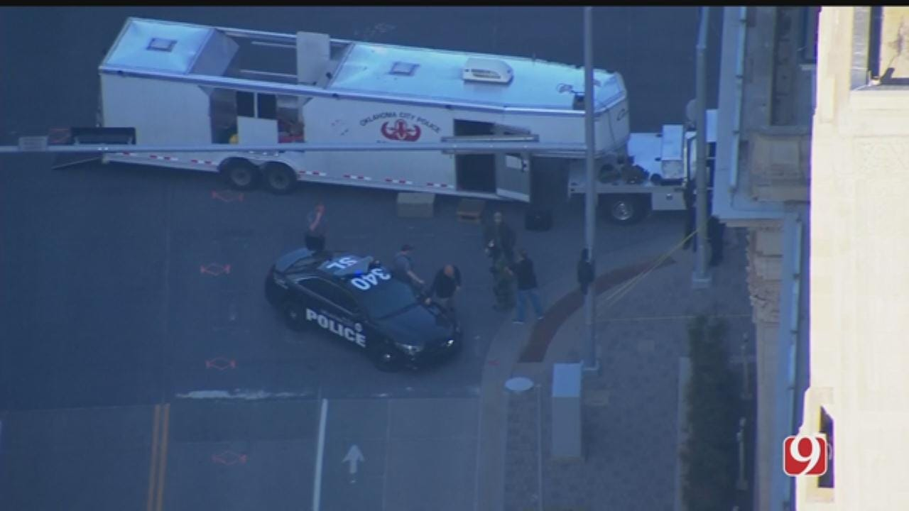 Officials Investigate Suspicious Package In Downtown Oklahoma City