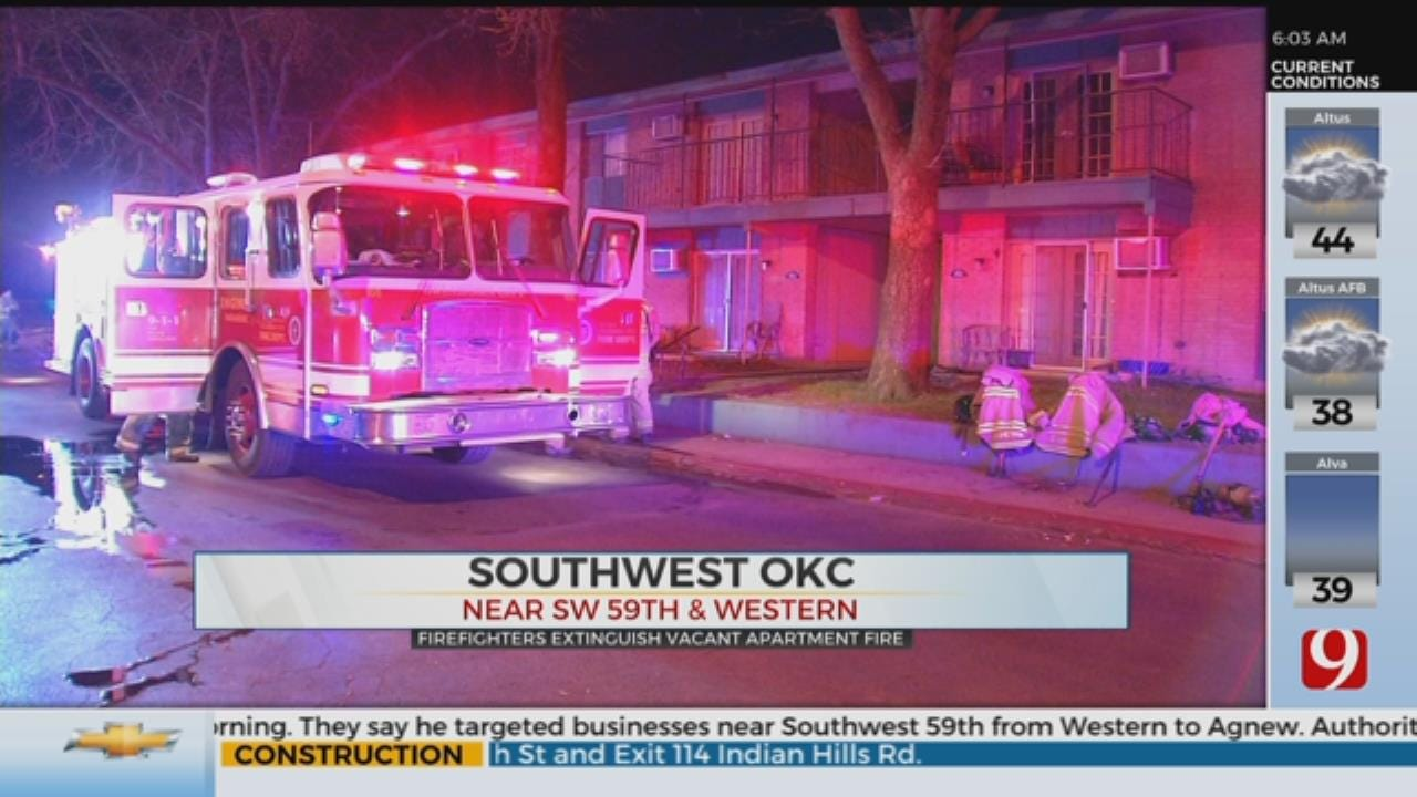 Firefighters Investigate Cause Of SW OKC Apartment Fire