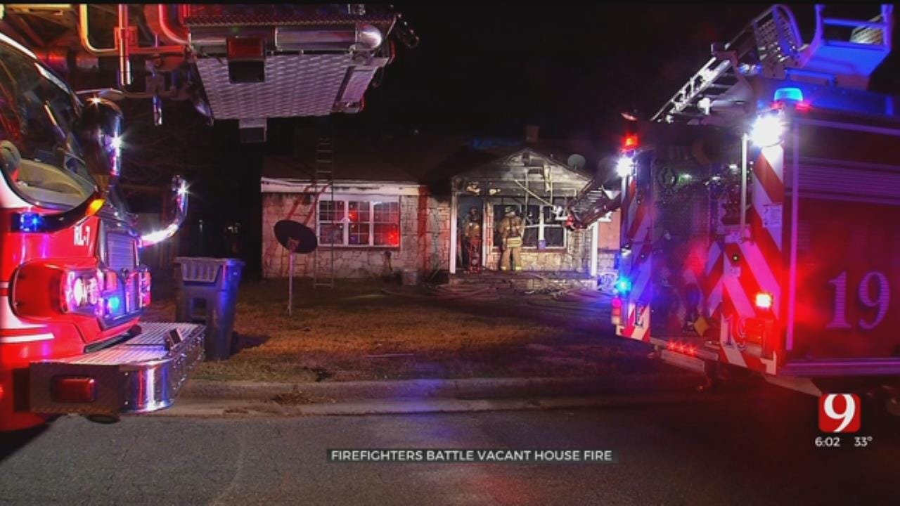 OKC Firefighters Say Vacant Home A Total Loss After Overnight Fire