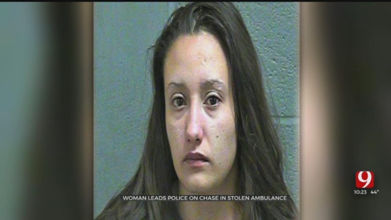 OKC Woman In Custody After Stealing Ambulance