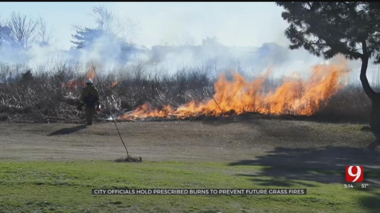 Officials Set Controlled Burn At Tinker To Help Prevent Future Wildfires