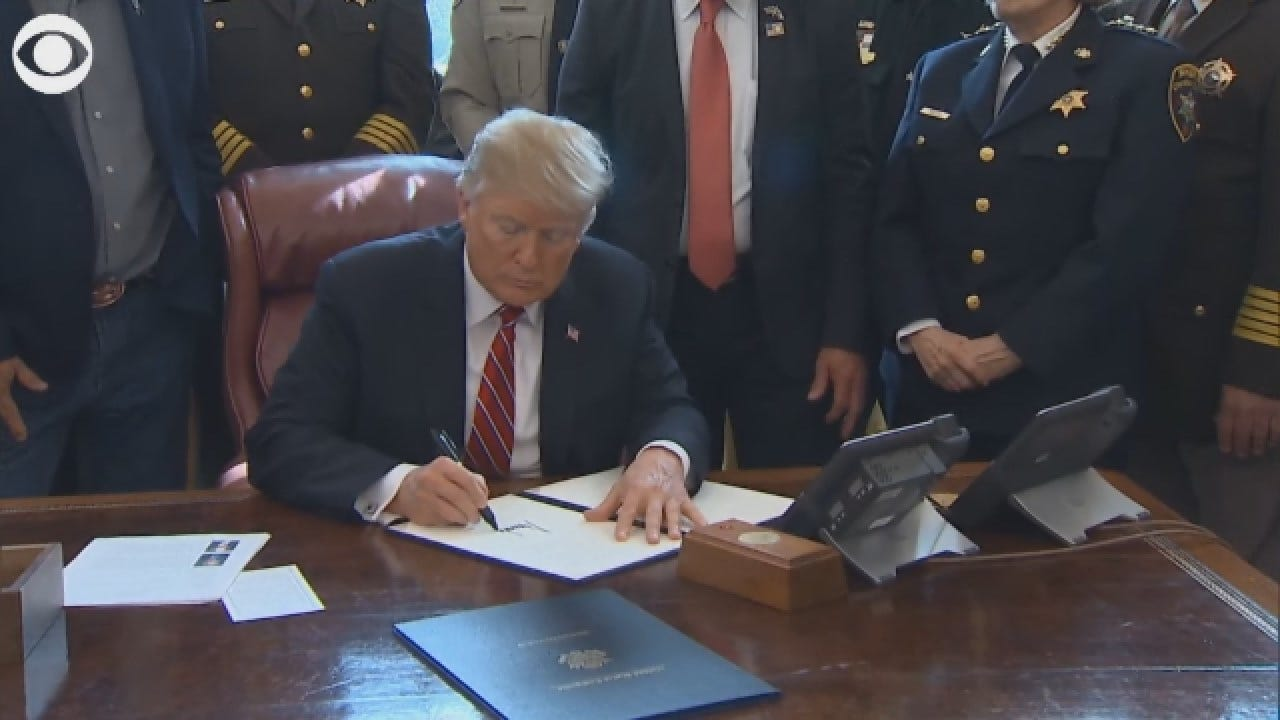 President Trump Signs First Veto To Protect National Emergency For Border Wall Funding