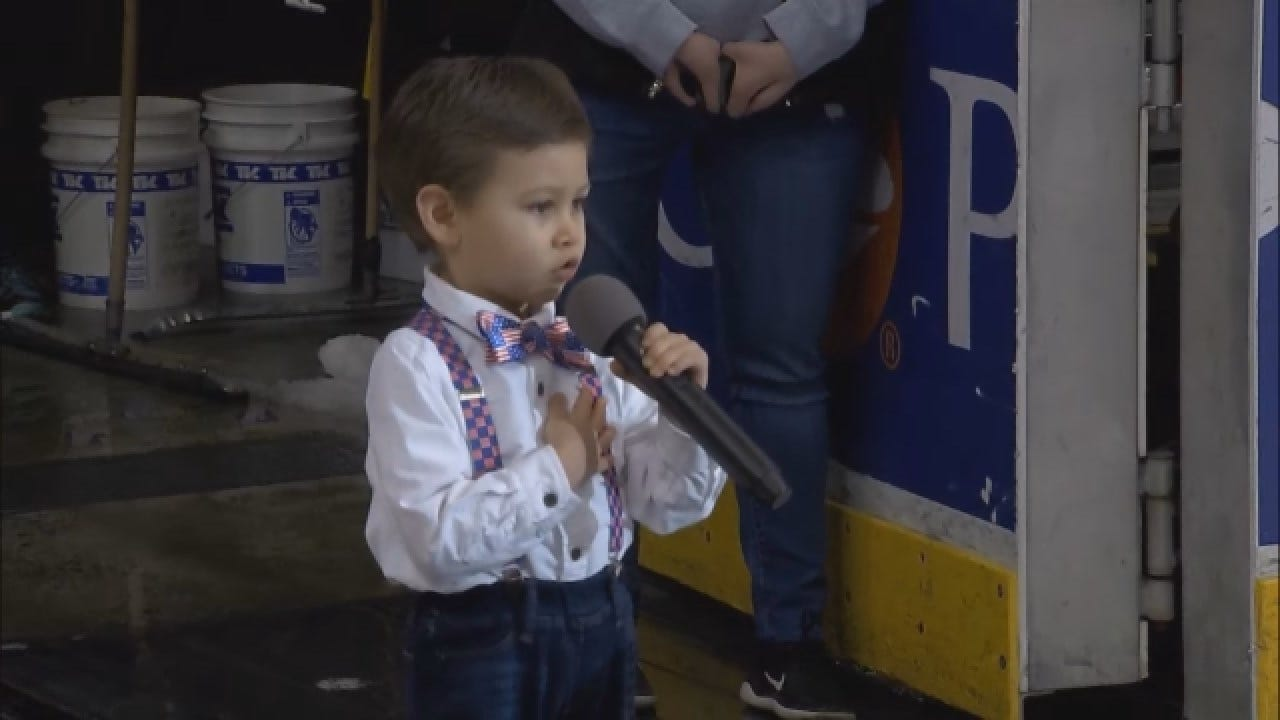 A MUST-SEE: 4-Year-Old Sings National Anthem At AHL Game
