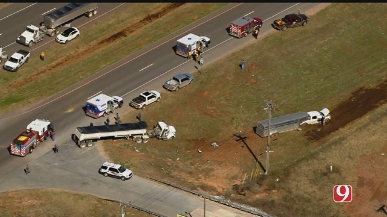 Bob Mills SkyNews 9 Flies Over Injury Crash Near Mustang