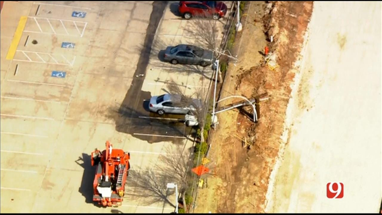 Bob Mills SkyNews 9 Flies Over Split Power Pole, Leaking Transformer In The Village