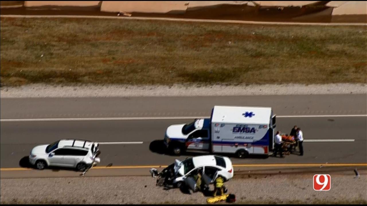 Bob Mills SkyNews 9 Flies Over 2-Vehicle Crash In NW OKC