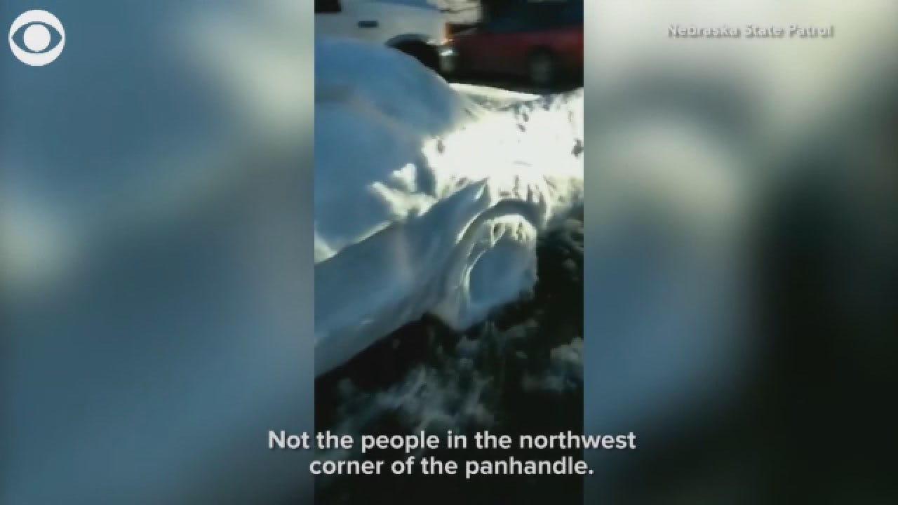 Officer 'Pulls Over' Car Made Entirely Of Snow