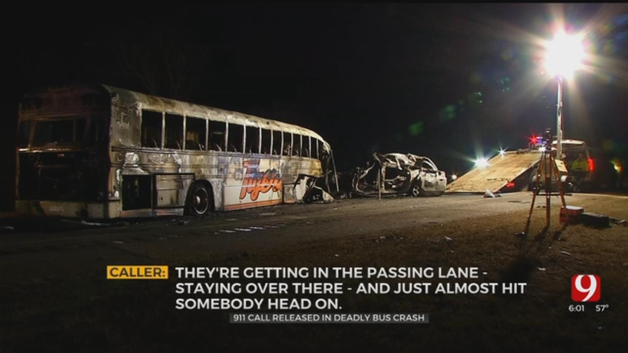 911 Call Made About Reckless Driver Before Fatal SUV, Konawa Bus Crash
