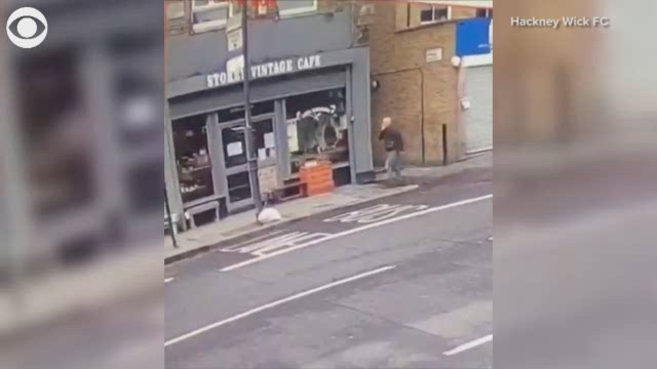Man Narrowly Escapes Wall Collapse In London
