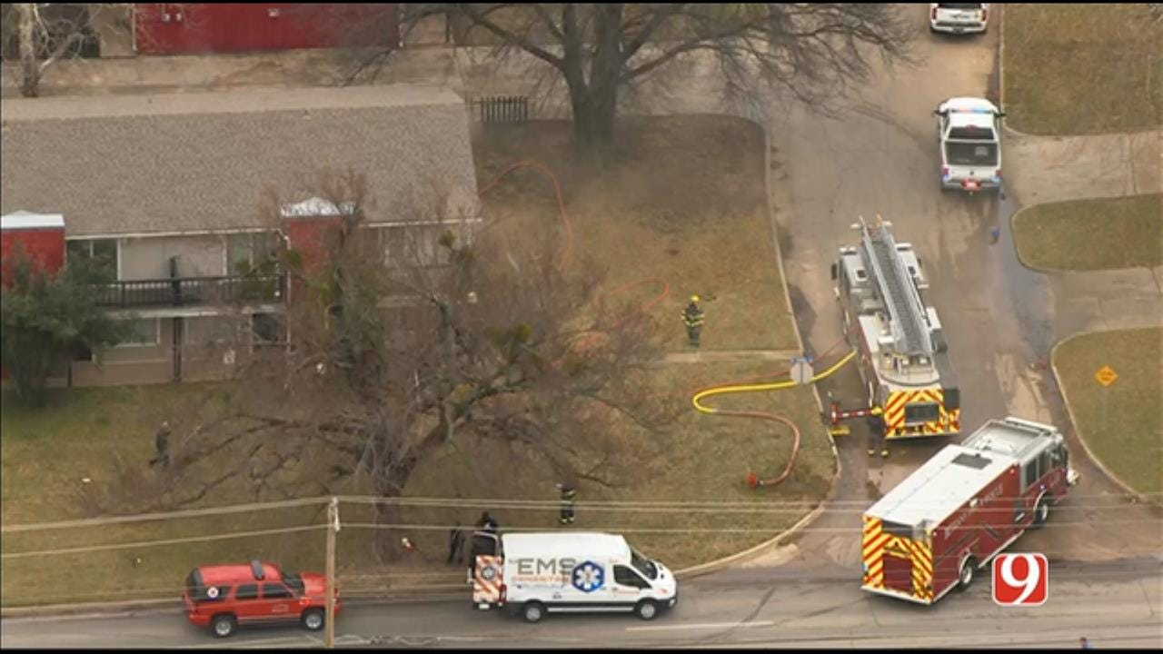 Firefighters Battle Structure Fire In Bethany