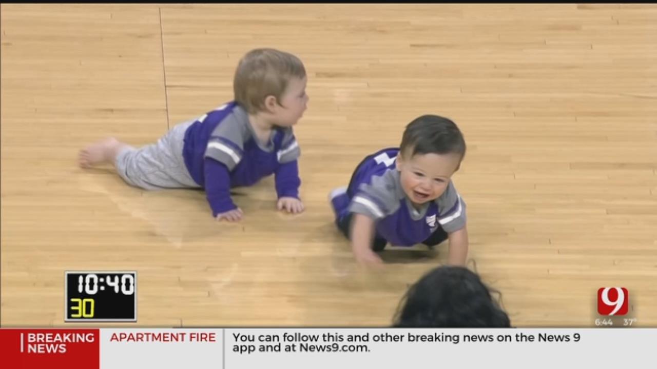 Babies Race During Halftime At Oklahoma-Kansas State Game
