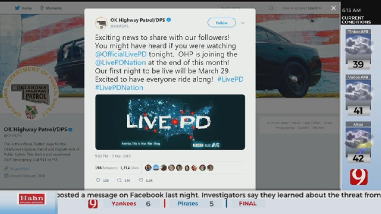 Oklahoma Highway Patrol Joins 'Live PD' Television Show