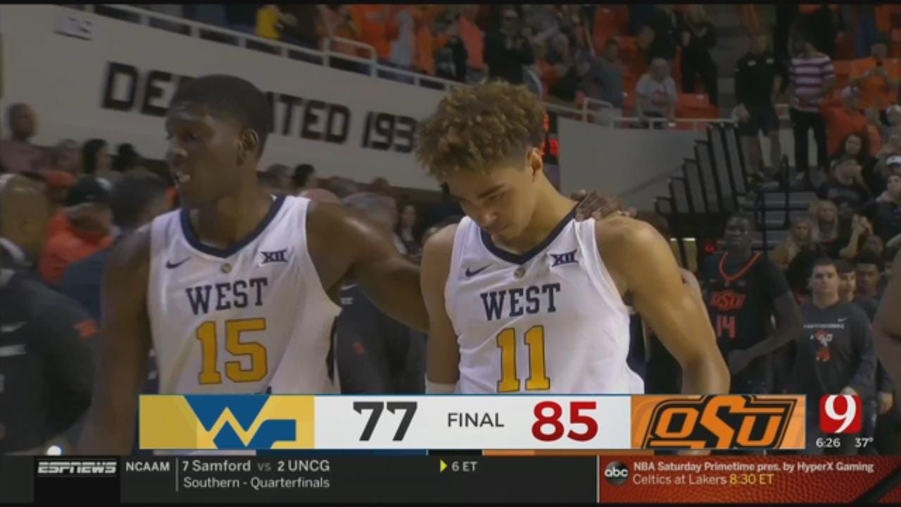 Waters Has 19, Leads Oklahoma State Over W. Virginia 85-77